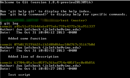 A basic tutorial to version control using git – sample(ECOLOGY)