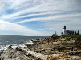 Lighthouse at Pemaquid Point in Pemaquid, Maine